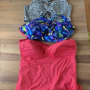 Bundle of 3 swim tops